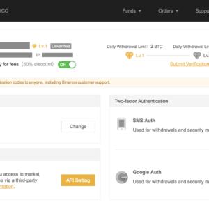 binance account verification