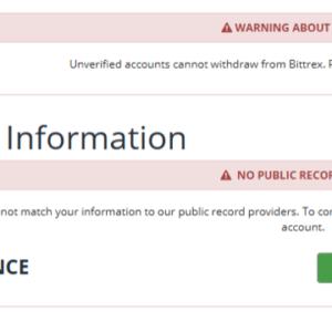 bittrex basic verification