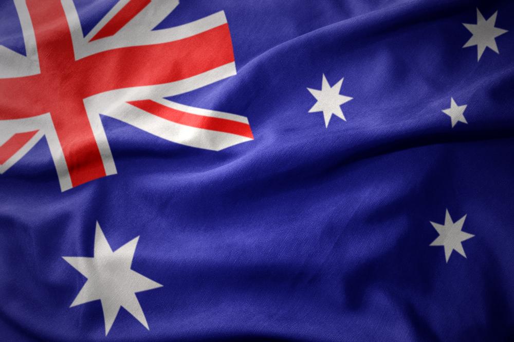 colourful australia flag