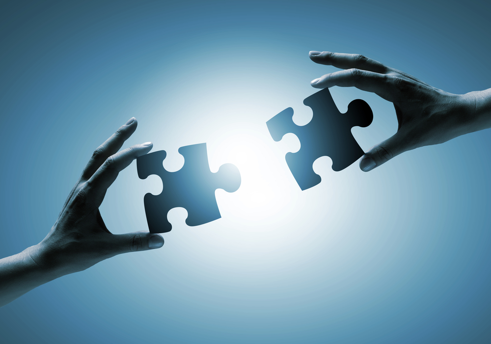 jigsaw pieces connecting image