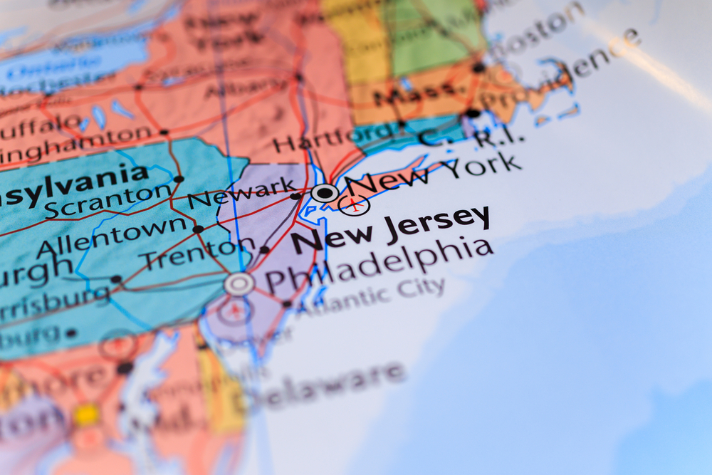 new jersey on map