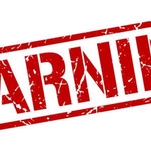 red warning stamp