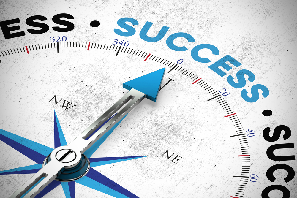 arrow pointing to success