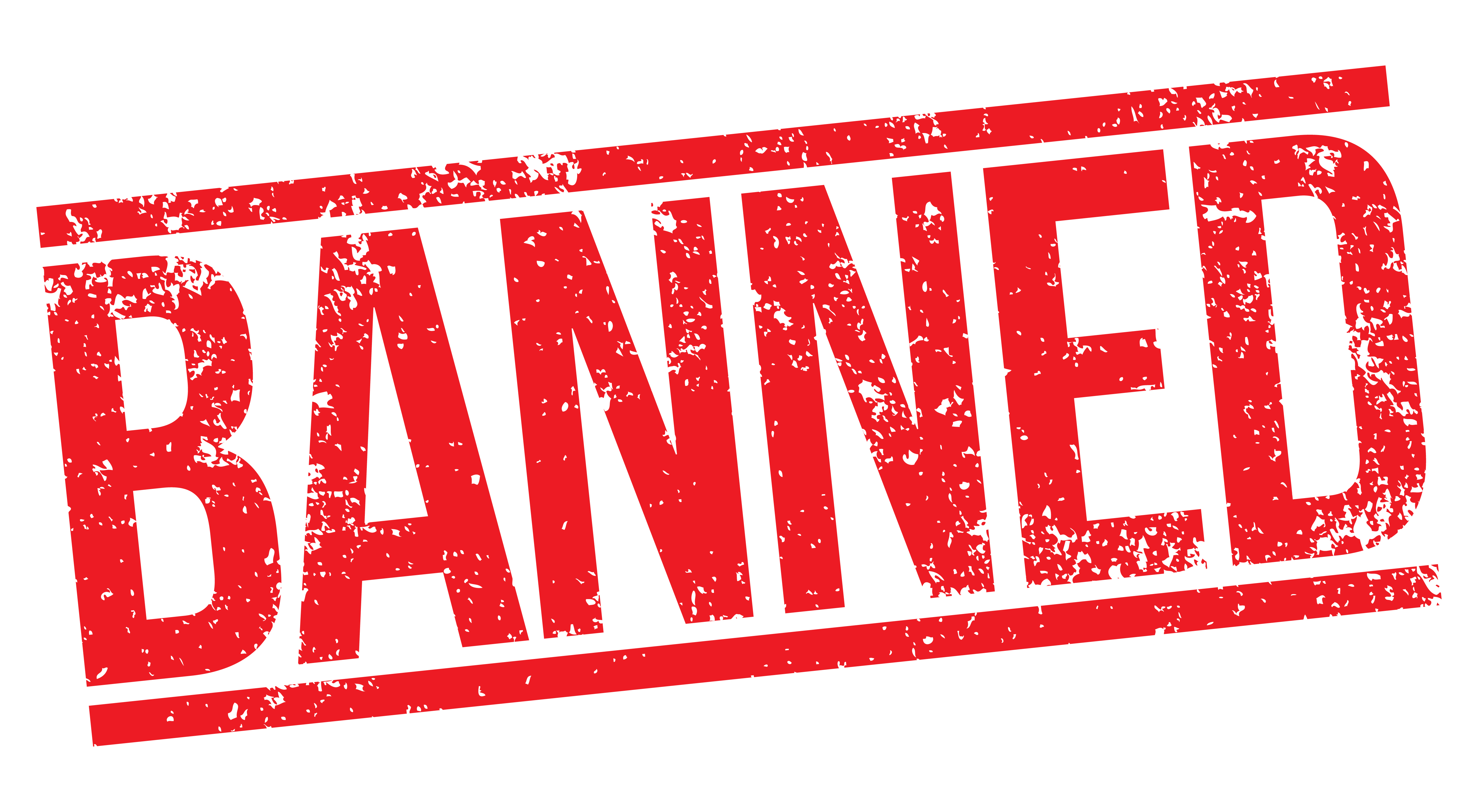 banned red stamped