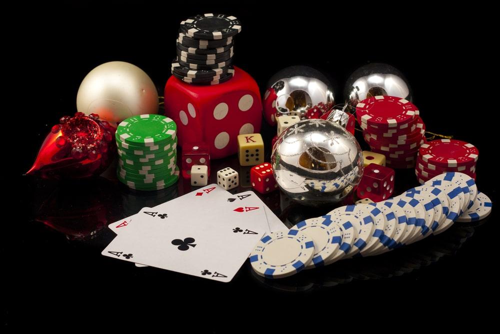 christmas casino concept