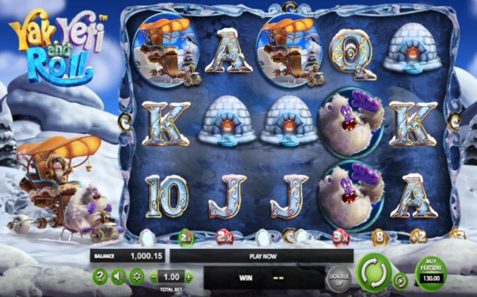 yak yeti and roll slot screen shot
