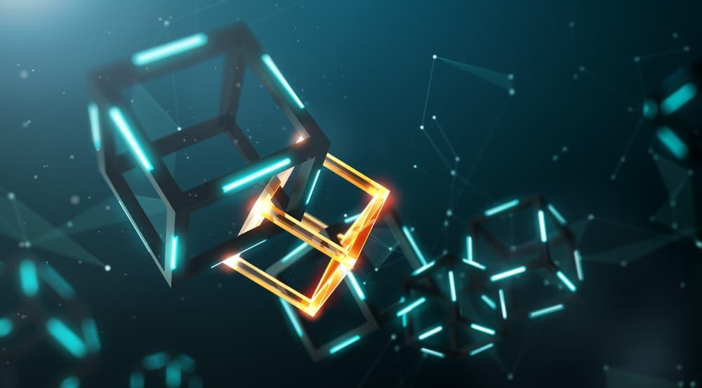 blockchain tech concept