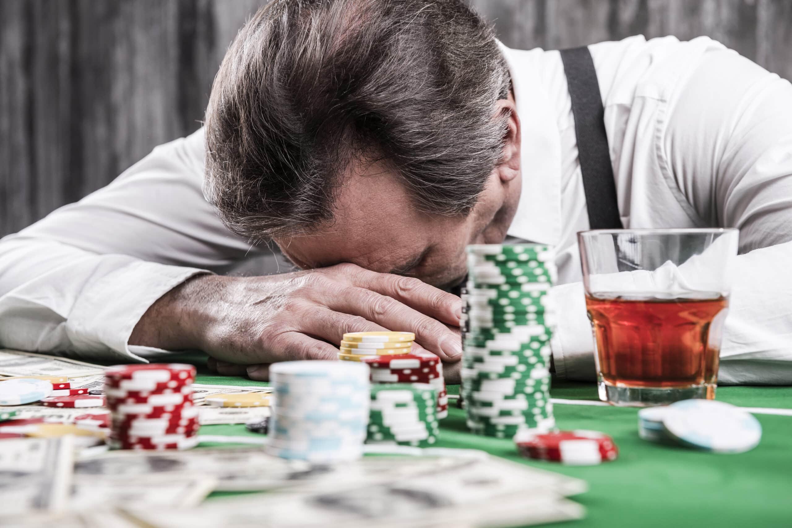 depressed gambler