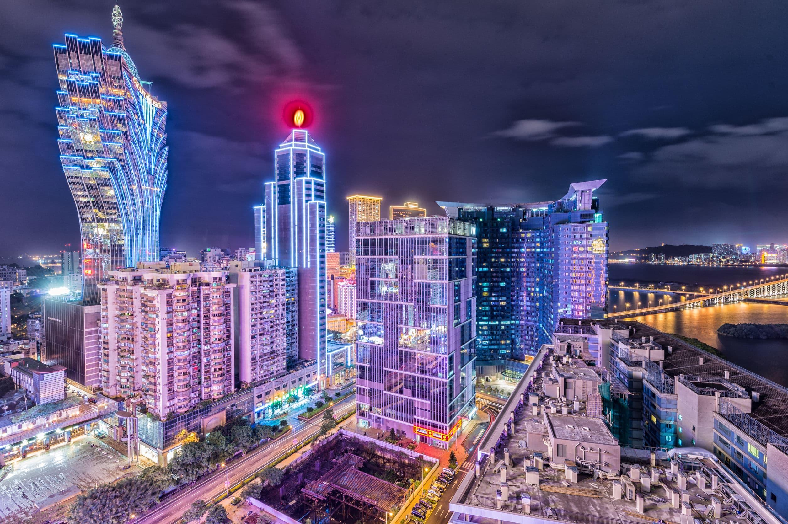 Macau night skyline