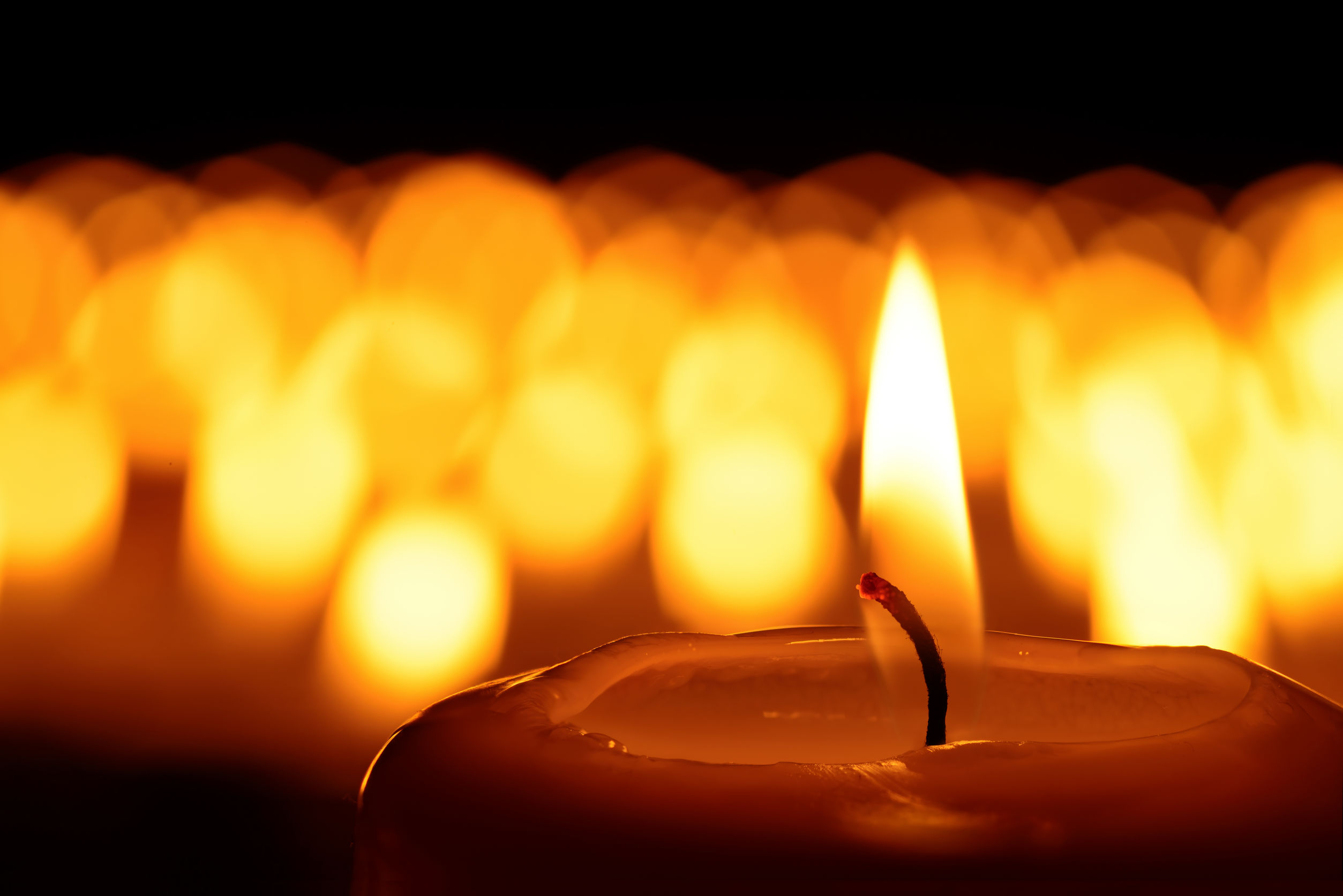 A sea of candles