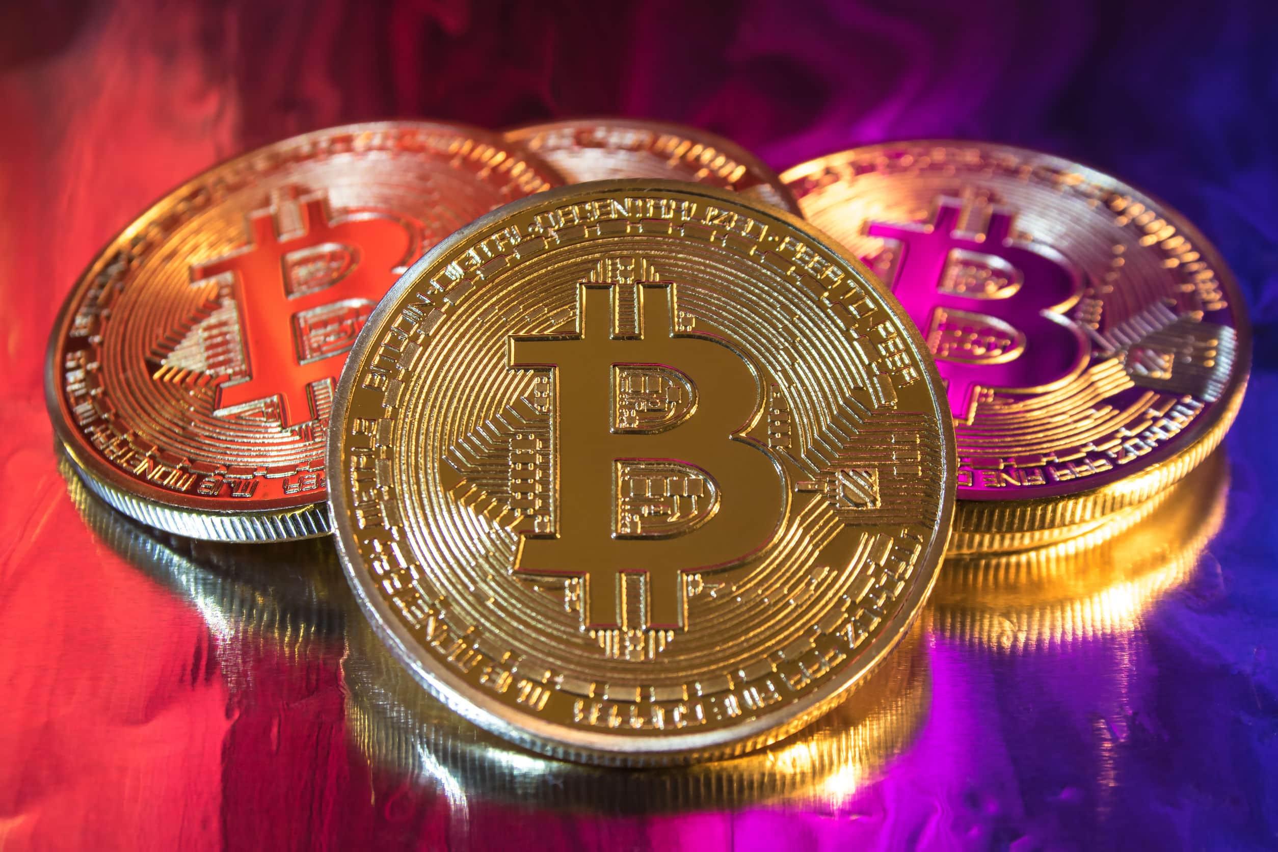 colorful bitcoin