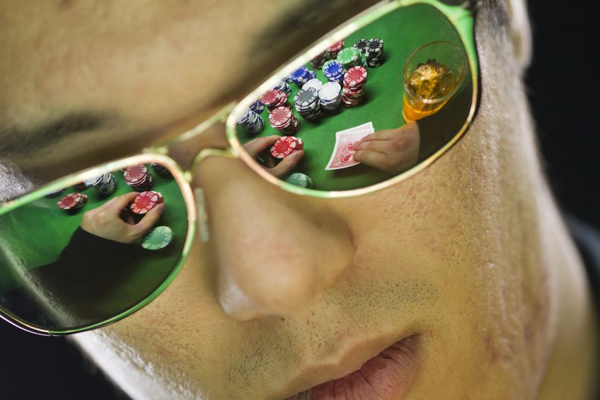 sunglasses cards player