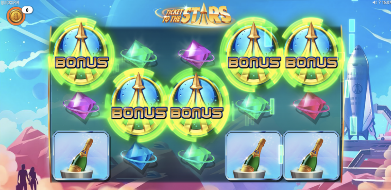 ticket to the stars slot screen shot