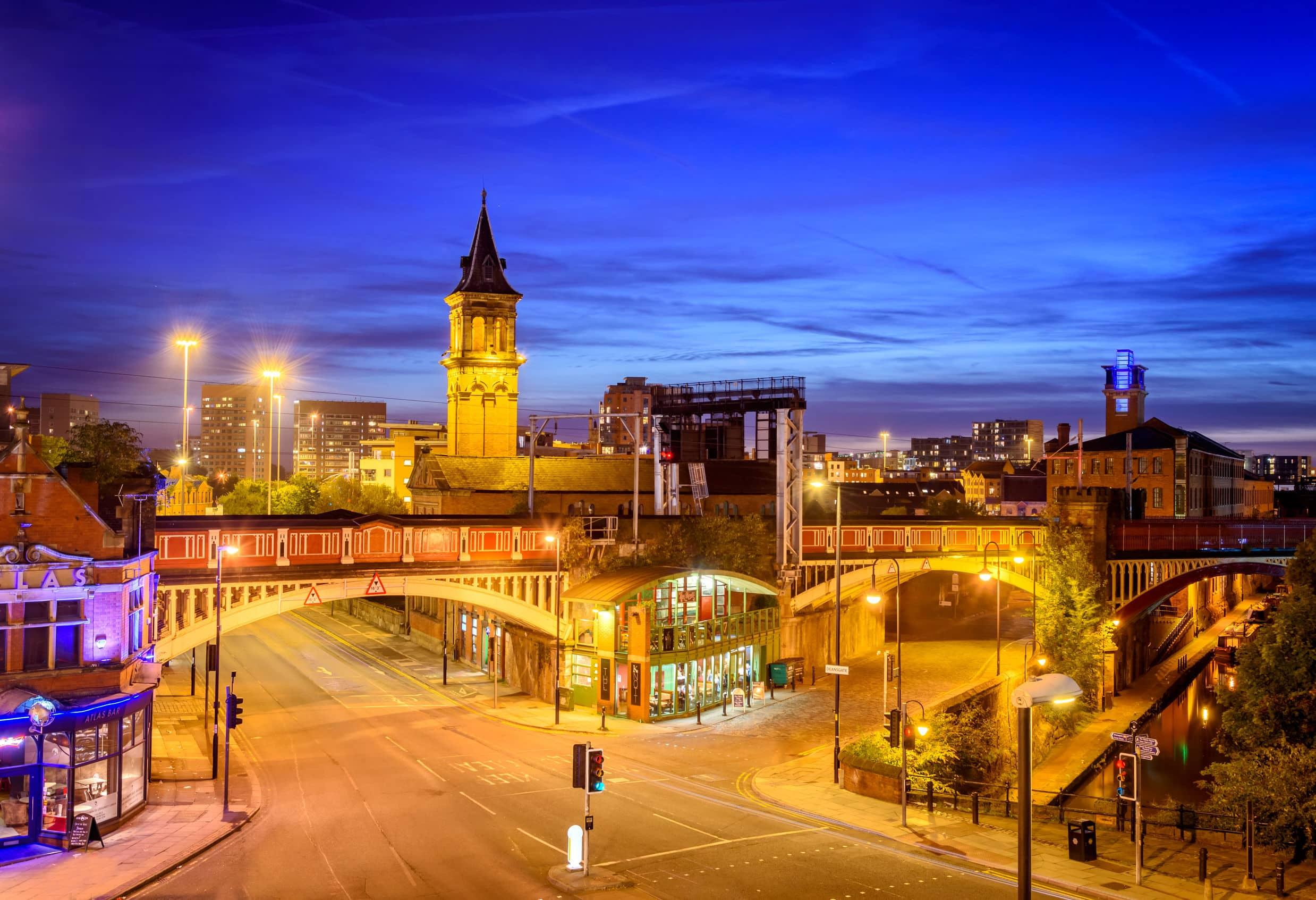 Manchester city centre England