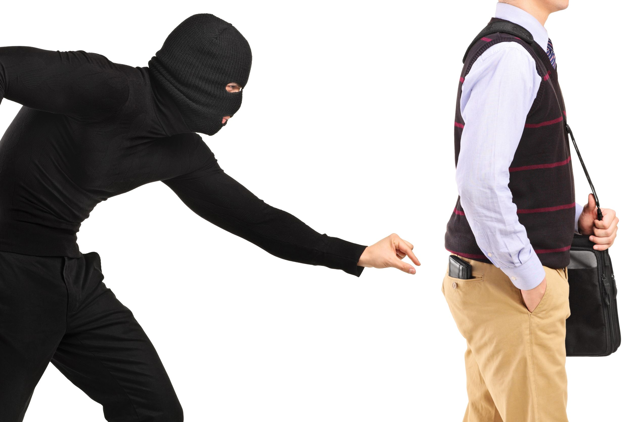 pickpocket trying to steal a wallet