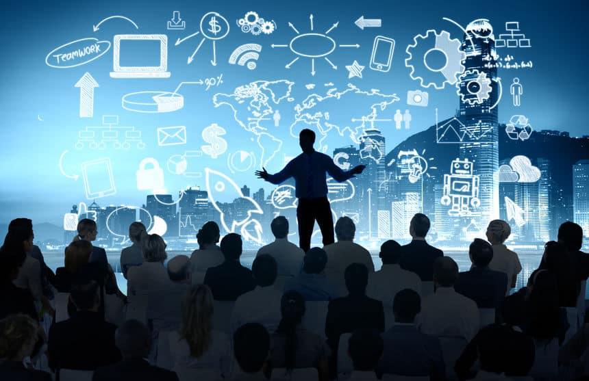Business People Corporate Cityscape Seminar Conference Presentat