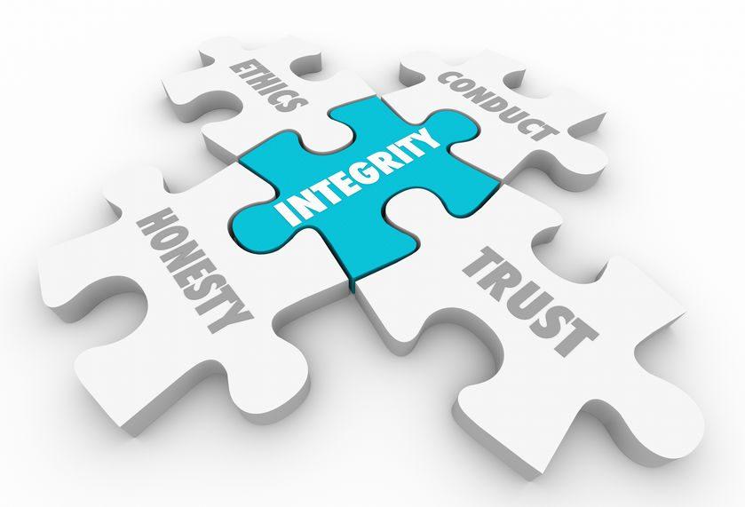 Integrity Principles Trust Ethics Conduct Honesty 3d Illustratio