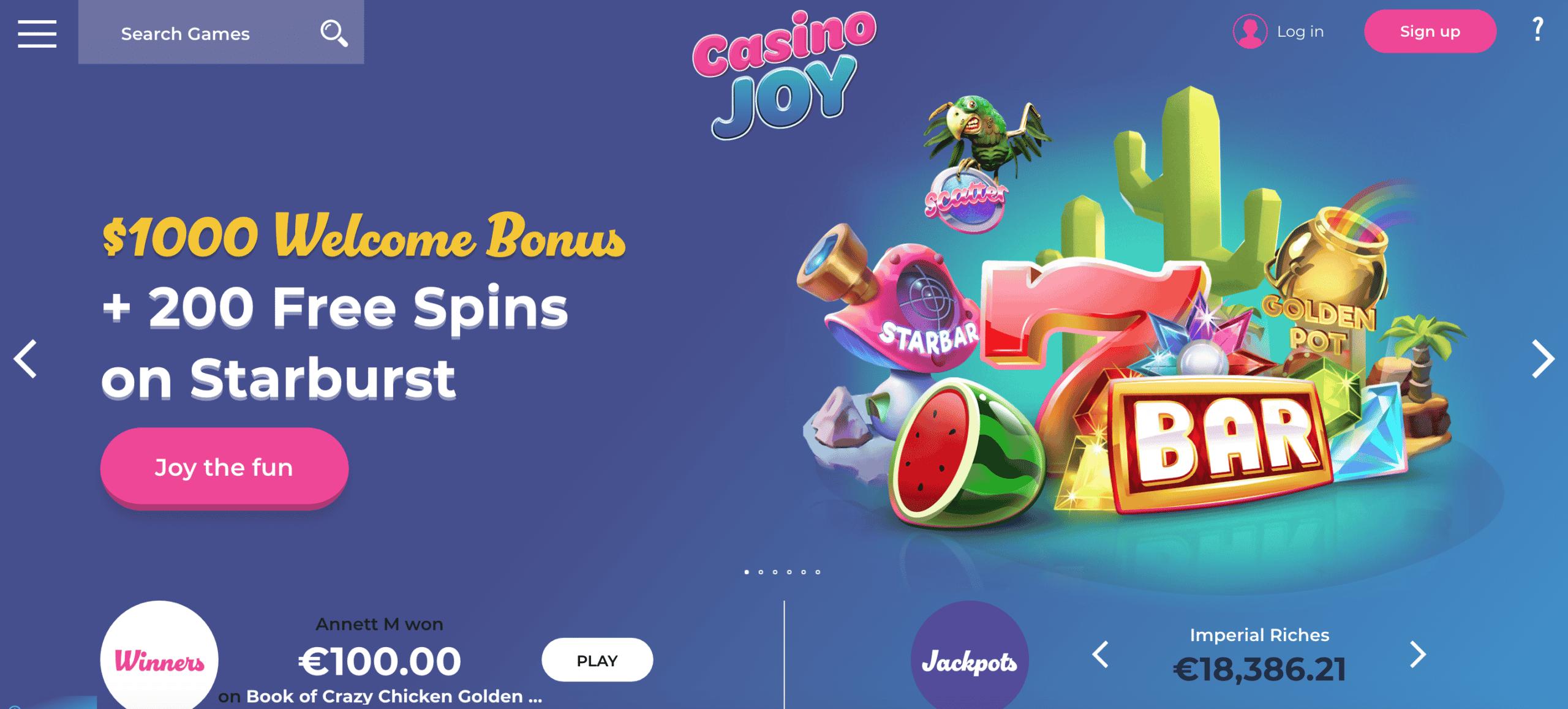 casino joy screen shot