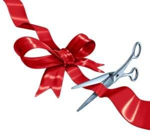 opening ribbon