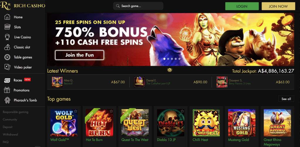 rich casino screen shot