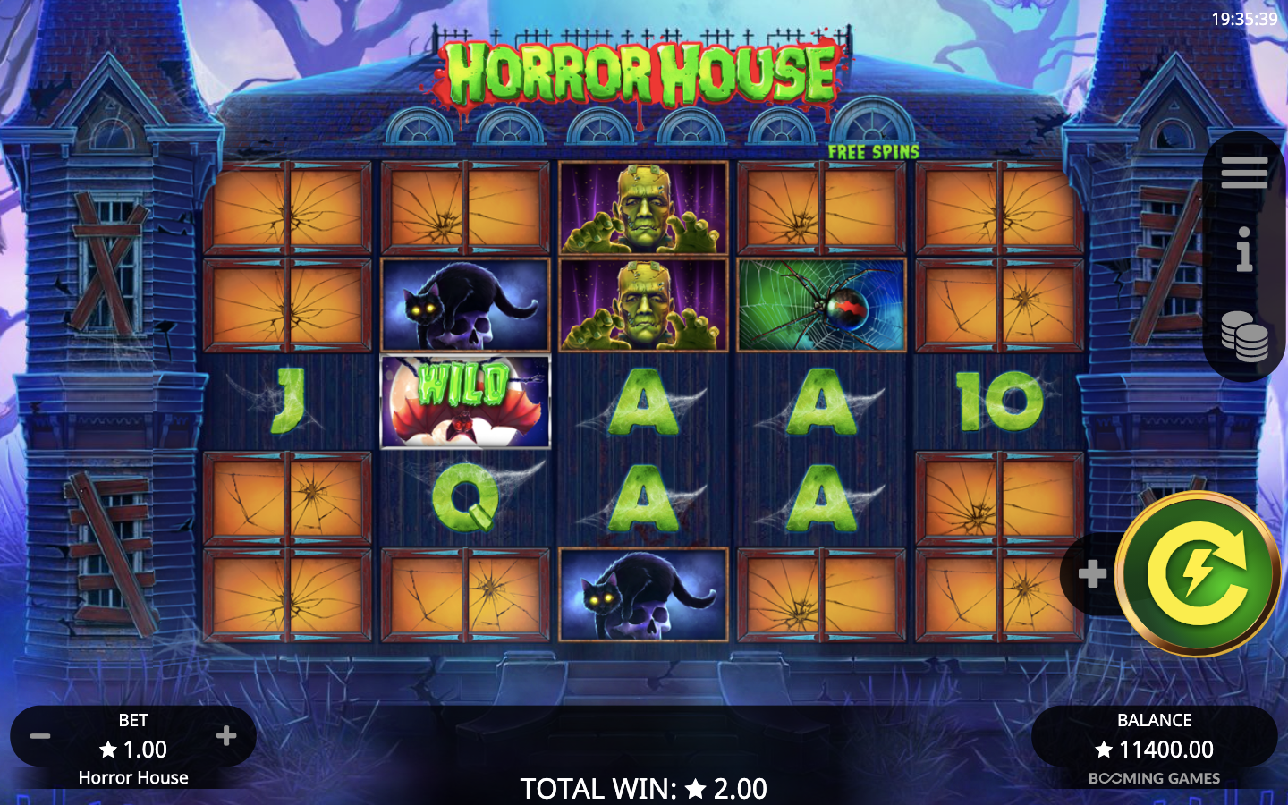 horror house slot