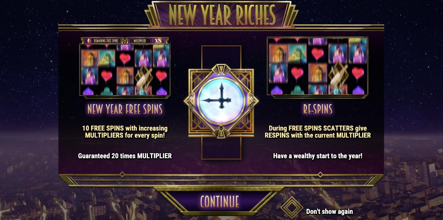 new year riches slot