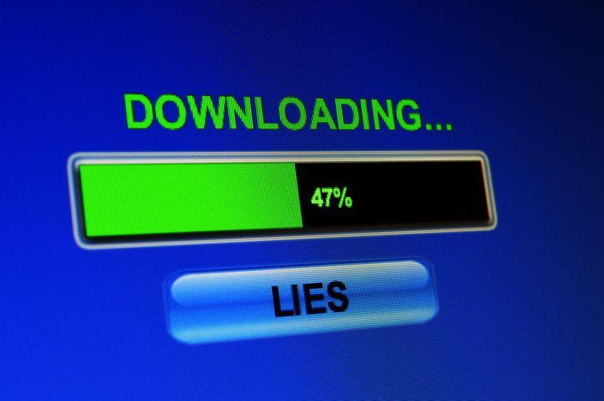 downloading lies