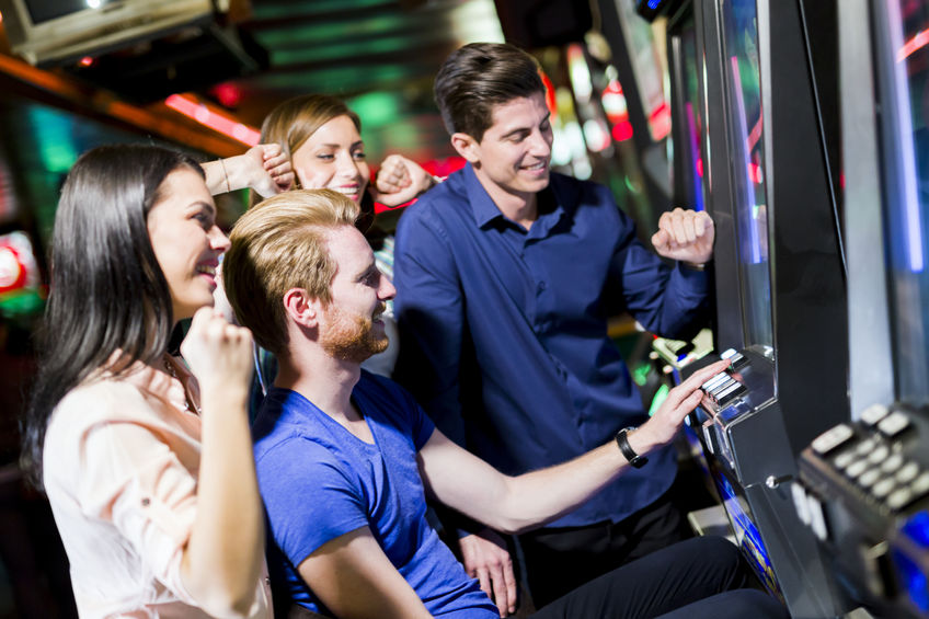 friends playing slots